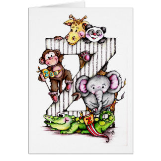 Z is for ZOO - Alphabet Art Card