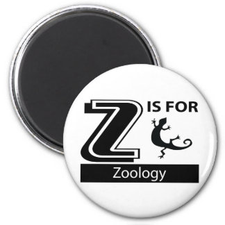 Z Is For Zoology 2 Inch Round Magnet