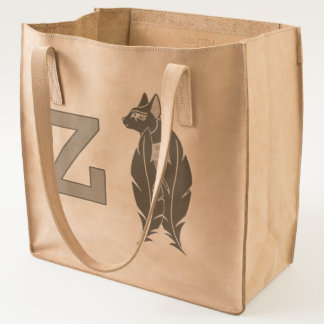 z leather tote