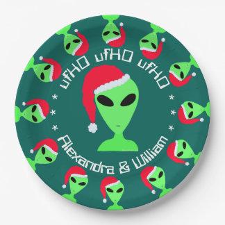 Z LGM en una fiesta de Navidad personalizada gorra Platos De Papel