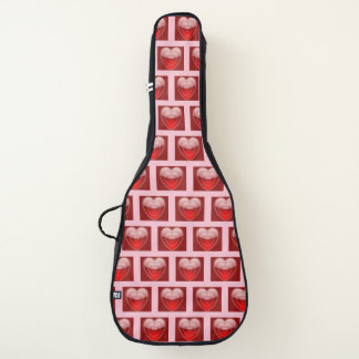 Z LOVE RED HEARTS GUITAR PINK BAG