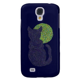 Z Lucky Black Cat And The Moon Samsung Galaxy Galaxy S4 Cover
