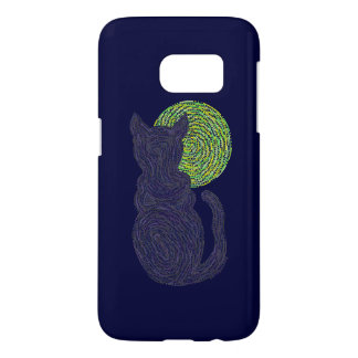 Z Lucky Black Cat And The Moon Samsung Galaxy Samsung Galaxy S7 Case