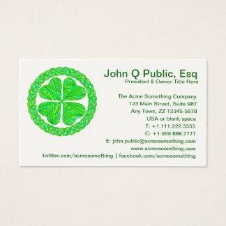 Z Lucky Celtic Shamrock Business Cards