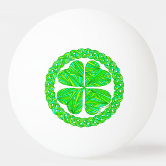 Z Lucky Celtic Shamrock Four Leaf Clover Ping Pong Ball