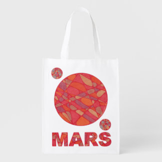 Z Mars The Red Planet Phobos And Deimos Grocery Bag