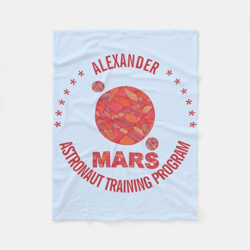 Z mars the red planet space geek solar system fun fleece for Solar system fleece
