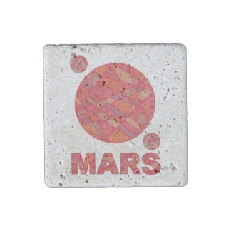 Z Mars The Red Planet Space Geek Solar System Stone Magnet