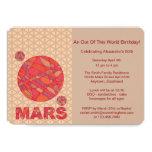 """Z Marte la diversión roja de la Sistema Solar del Invitación 5"""" X 7"""""""