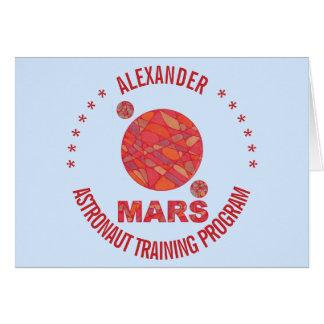 Z Marte la diversión roja de la Sistema Solar del Tarjeta De Felicitación