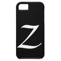 Z Monogram Black IPhone 5 Case