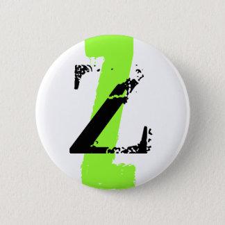 Z monogram pinback button