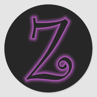 Z Monogram Purple Neon Sticker