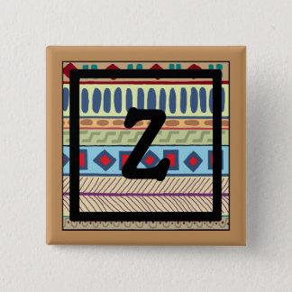 Z-Monogram Tribal Button
