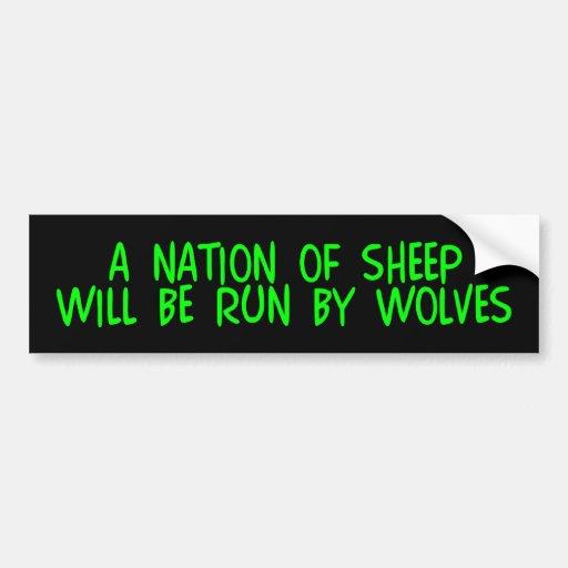 z_nationsheep etiqueta de parachoque