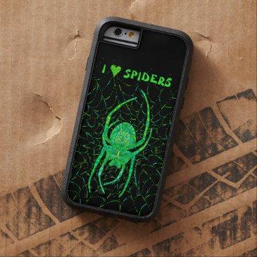 Halloween Themed Z Neon Green Spider Spooky Arachnid Halloween Fun Tough Xtreme iPhone 6 Case
