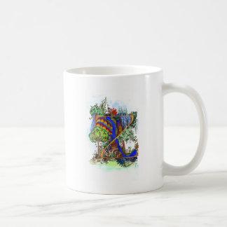 Z painted coffee mug