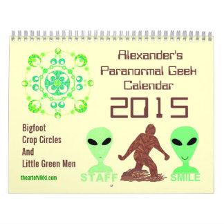 Z Paranormal Geek 2015 Bigfoot Aliens Crop Circles Calendar