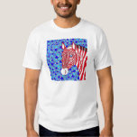 Z Patriotic Zebra Fun Red White And Blue Stripes Shirt