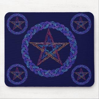 Z Pentagram Art Pagan Wicca Mousepad