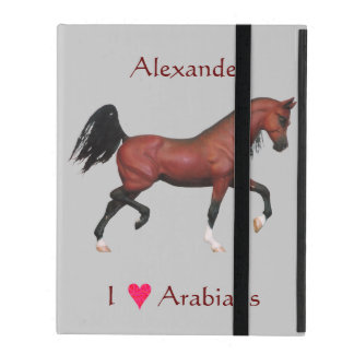 Z Personalized I Love Arabians Horse Pony iPad Cover