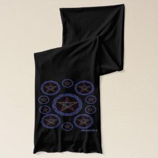 Z Personalized Magic Pentagram Art Muffler Wrap