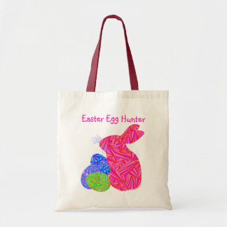 Z Pink Easter Bunny And Eggs Tote Bag