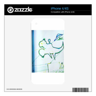 Z Plane Rising Skin For iPhone 4
