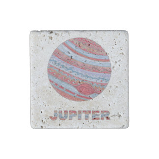 Z Planet Jupiter Colorful Space Geek Solar System Stone Magnet