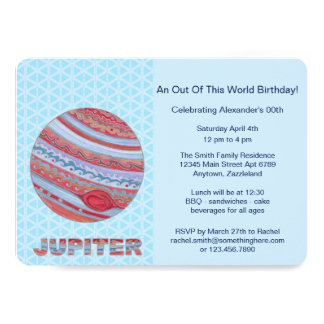 Z Planet Jupiter Colorful Space Geek Space Theme Card