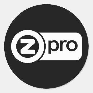 Z Pro Classic Round Sticker