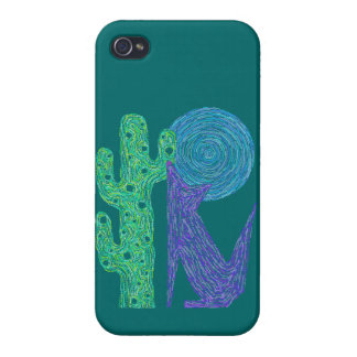 Z Purple Coyote Wolf SAVVY iphone4 Cute Colorful Case For iPhone 4