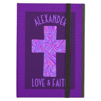 Z Purple Cross Christian Symbol Faith Religion iPad Air Cases