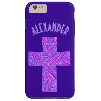 Z Purple Cross Christian Symbol Faith Religion Tough iPhone 6 Plus Case