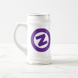 Z púrpura en blanco stien tazas de café