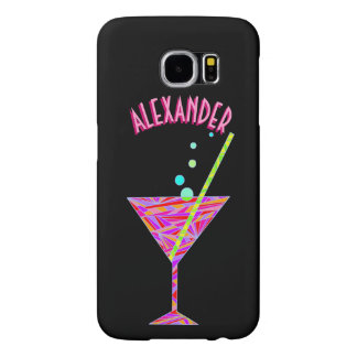 Z Red Happy Hour Cocktail Glass Martini Colorful Samsung Galaxy S6 Cases