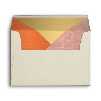 Z Rose Gold And Copper Modern Wedding 5 x 7 Envelope