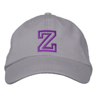 """Z"" Small Athletic Letter Embroidered Baseball Hat"