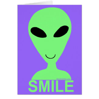Z Smile It's Your Birthday Happy Alien Greeting Card