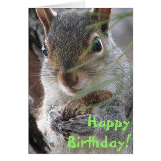 Z Squirrel Dug Up A Peanut Happy Birthday Card