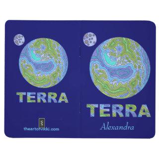 Z Terra Earth Space Geek Personalized Notebook Fun