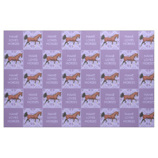 Z Trotting Bay Arabian Horse Equine Horse Lover Fabric
