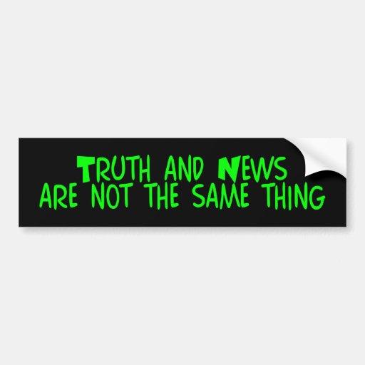 z_truthnews pegatina de parachoque