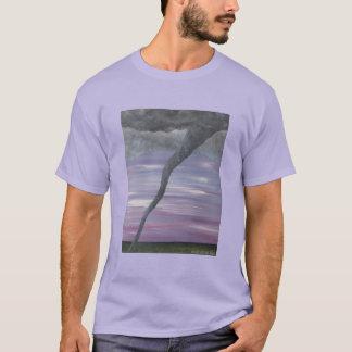 Z Twister Purple Gray Tornado Funnel Cloud T-Shirt