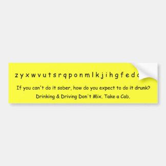z y x w v u t s r q p o n m l k j i h g f e d c... car bumper sticker
