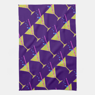 Z Yellow Abstract Happy Hour Cocktail Party Towels