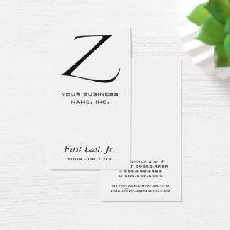Z - Zapfino Business Card