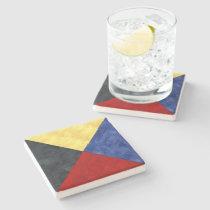 Z Zulu Watercolor Nautical Signal Maritime Flag Stone Coaster