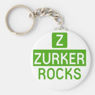 Z Zurker Rocks White Round Key Chain