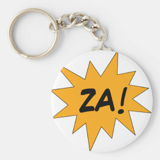ZA! BASIC ROUND BUTTON KEYCHAIN